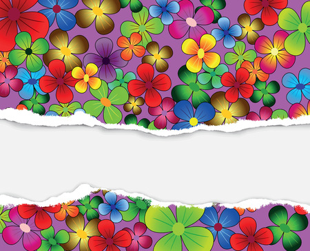 beautiful card with multi-colored flowers on a bright background