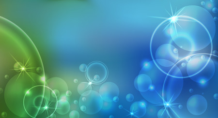 Colorful abstract festive background with soft bokeh and lights. Vector illustration.