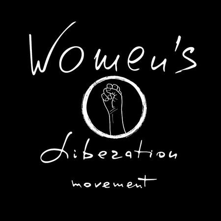 Movimento di liberazione delle donne. Citazione del femminismo. Detto femminista. Scritta a pennello. Disegno vettoriale. Vettoriali