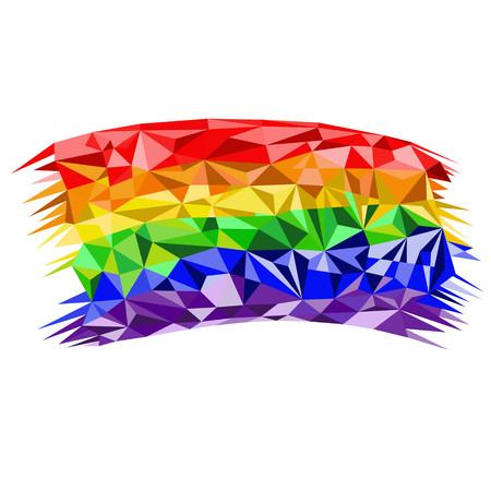 Low poly rainbow . Unconventional orientation for LGBT and parade. Geometric polygonal vector Vektoros illusztráció