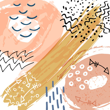 Abstract illustration. Hand draw background with brush texture for branding and social media. Vector backdrop design.