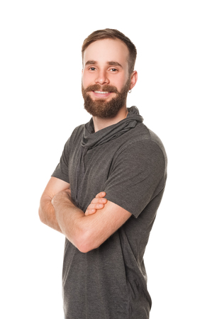 bawl: studio portrait man with beard Stock Photo
