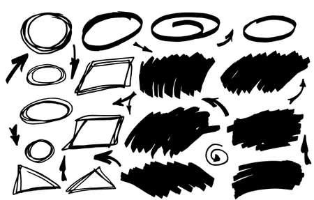 Vector marker elements. Hand drawn design elements.