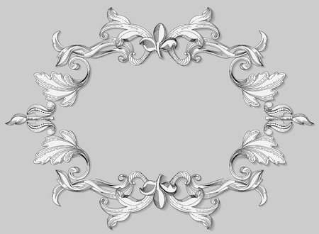Decorative ornament style of the Renaissance, as the black-and-white engraving.
