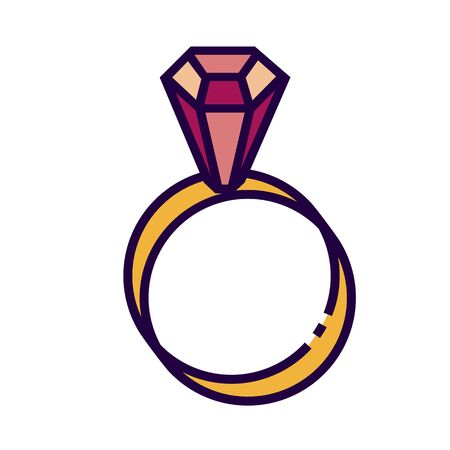 Ring icon is in flat and pixel perfect style. Ilustração