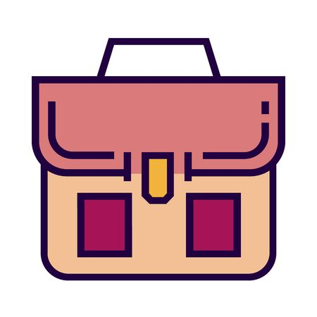 Career bag icon is in flat and pixel perfect style. Vettoriali