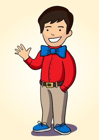 genial: Illustration of a smiling boy