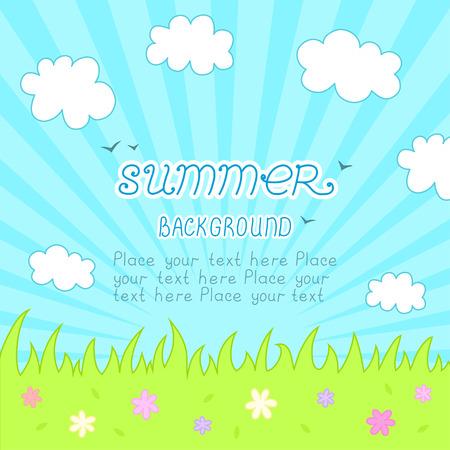 lea: Natural floral background vector illustration