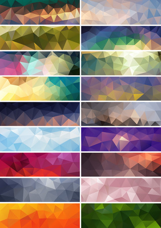 polyhedral: Collection of vector abstract polygonal banners Illustration