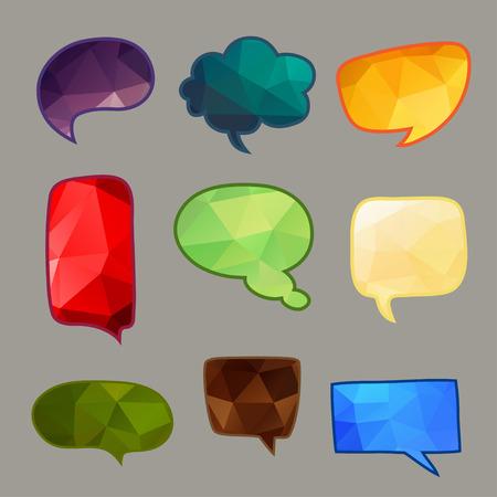 Abstract Vector Speech Bubbles Set Illustration