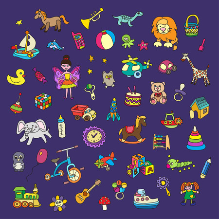 horse pipes: Set of colorful children\