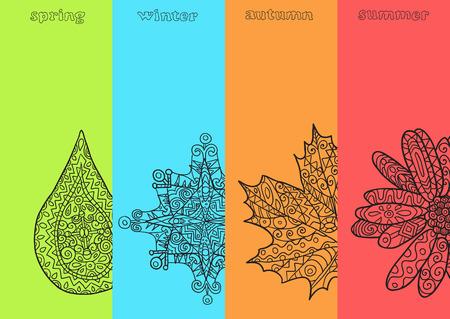 cuatro elementos: Cuatro estaciones