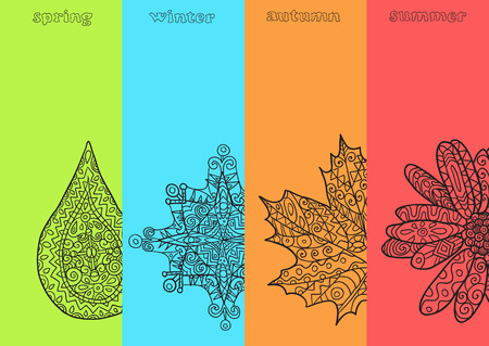 4 leaf: Four seasons