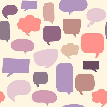 Speech bubbles seamless pattern Ilustração