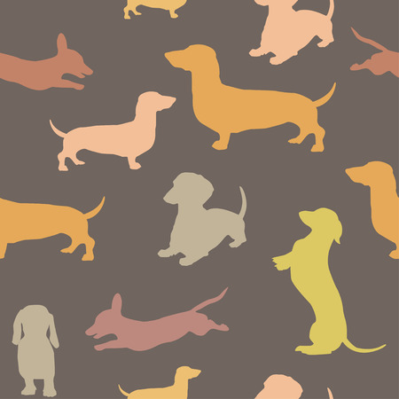 wag: Seamless pattern with dog