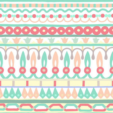 designs: Ethnic seamless stripe pattern. Vector illustration for your cute design. Borders and frames.