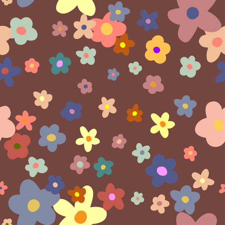aviary: Flower Background seamless floral pattern Illustration