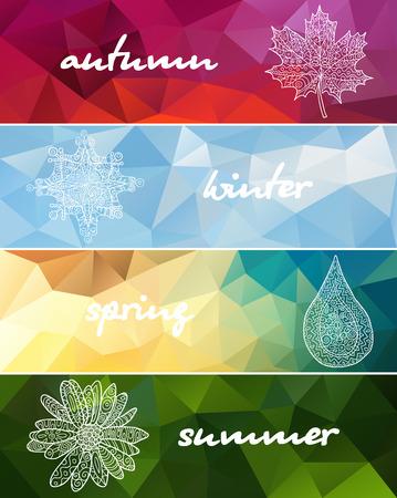 Vier seizoenen horizontale banners