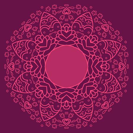 burgundy ribbon: Circolare disegno geometrico decorativo