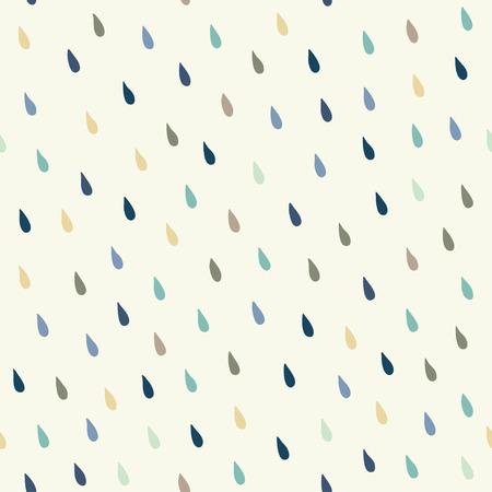 Vector rain drops background Illustration