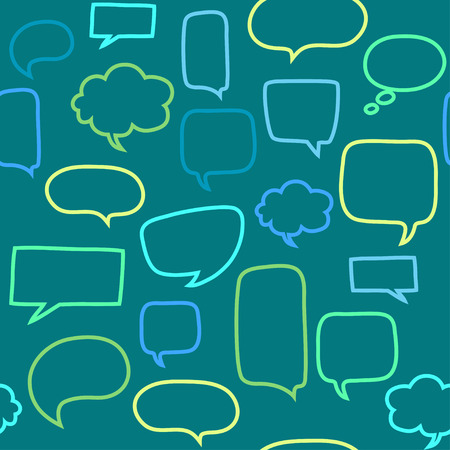 Seamless pattern with speech bubbles Vector