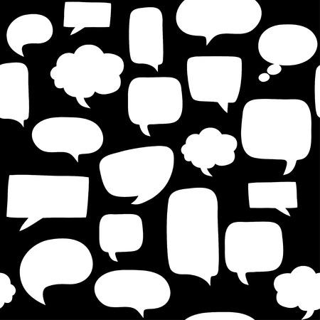 talk: Speech bubbles seamless pattern Illustration