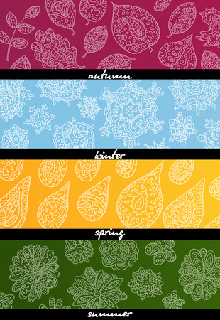 Four seasons horizontal banners