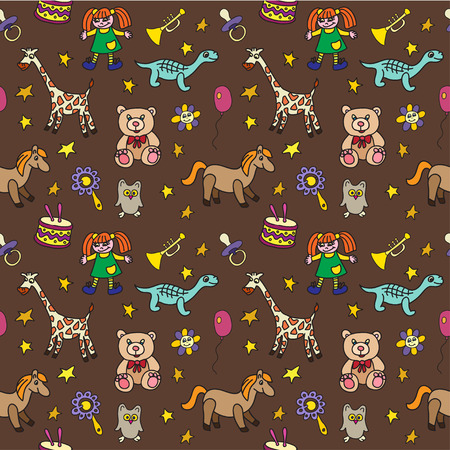 beanbag: seamless pattern with toys