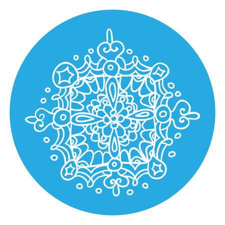 roundish: snowflake Illustration