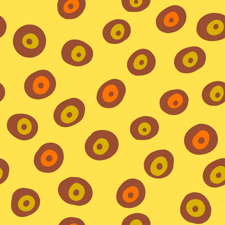 Vector abstract seamless pattern with circles Vector