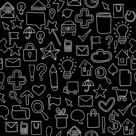 Seamless pattern Icons. Vector illustration Vector