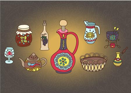 turk: Set of Kitchen utensil Illustration