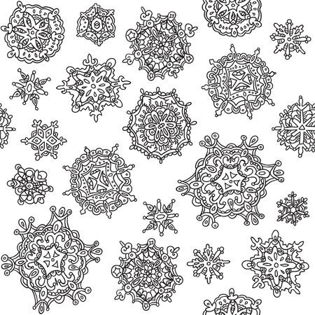 Seamless winter texture. Winter background. Christmas template. Vector