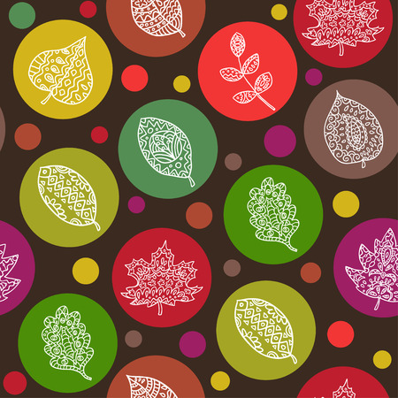 pape: Seamless leaf pattern. Vector illustration.