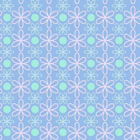 Abstract flower pattern wallpaper. Vector illustration. Seamless background. Vector