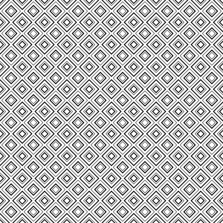 repetition: Abstract geometric diamond shape seamless pattern in black and white vector