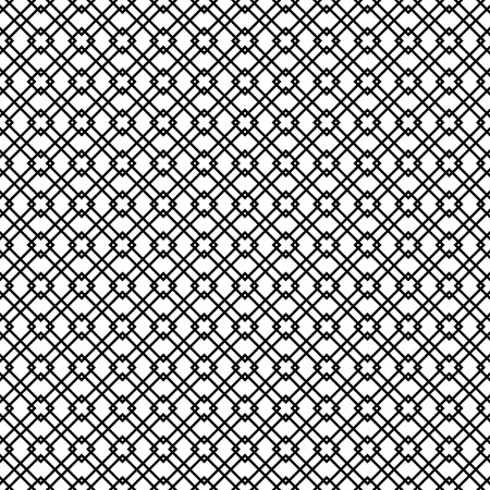 diamond shape: Black and white geometric diamond shape seamless pattern vector