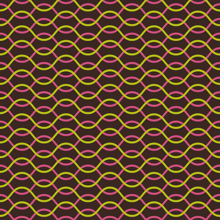 Vector seamless pattern. Abstract stylish background. Wavy regular pattern Vector