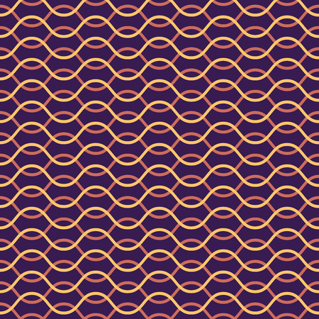 pink brown: Vector seamless pattern. Abstract stylish background. Wavy regular pattern