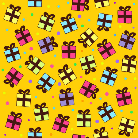 gift pattern: Vector Seamless Gift Pattern