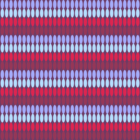 horizontal: Seamless pattern with horizontal ellipses chains