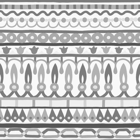 stripe pattern: Ethnic motivo a strisce senza soluzione di continuit�. Illustrazione vettoriale per il vostro disegno cute. Bordi e cornici. Vettoriali