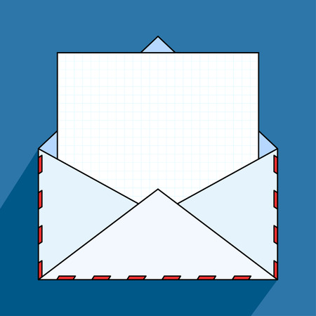 open envelope: Open envelope with paper