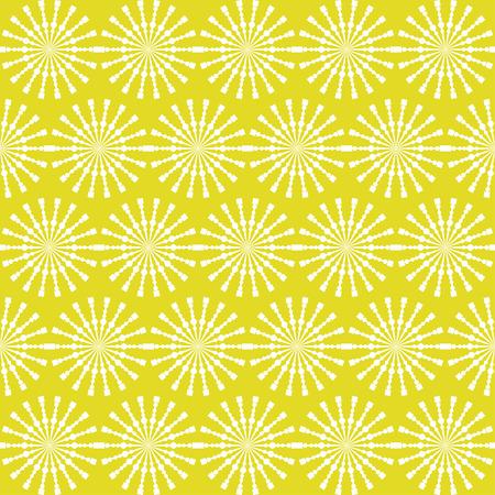 Abstract geometrisch naadloos patroon. Geel stijlpatroon met cirkel en lijn. Eindeloze textuur voor behang, vulling, webpagina-achtergrond, oppervlaktestructuur. Stock Illustratie