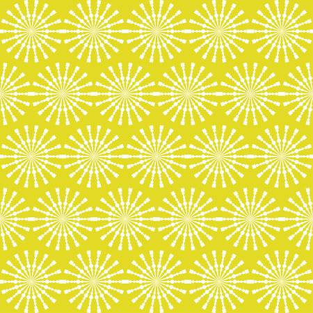 Abstract geometric seamless pattern. Yellow style pattern with circle and line. Endless texture for wallpaper, fill, web page background, surface texture. Illustration