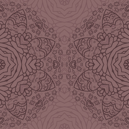 realization: Ornamental half round lace pattern, circle background, crocheting handmade lace, lacy arabesque designs. Oriental traditional ornament motif in modern realization