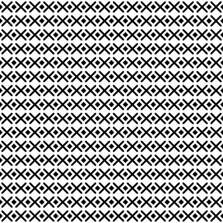 Zwart-wit geometrische versiering. Vector naadloos patroon. Endless textuur kan worden gebruikt voor het printen op stof, papier of schroot het boeken, behang, patroonvullingen, webpagina achtergrond, oppervlaktestructuur. Stock Illustratie