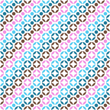 pink brown: Circle vector seamless pattern. Endless texture for wallpaper, fill, web page background, surface texture. Illustration