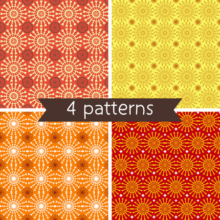 four pattern: Set of Four Seamless Pattern. Seamless pattern can be used for wallpaper, pattern fills, web page background, surface textures. Illustration