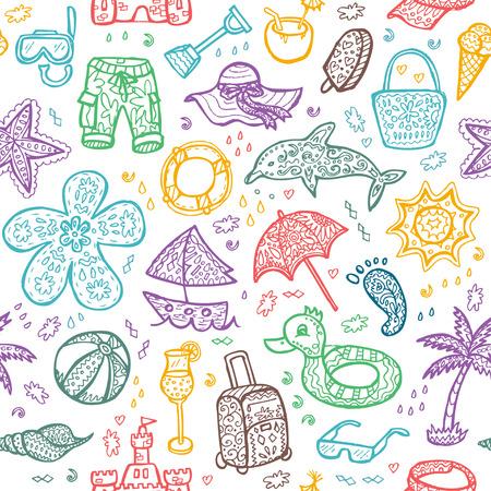 spanking: Vector beach pattern for summer